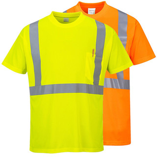 Class 2 Orange or Lime Green Hi-Viz T-Shirt