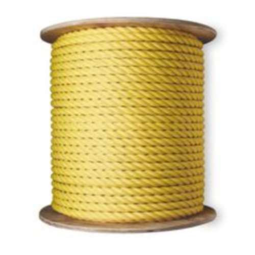 """1/4"""" X 1200' Yellow Poly Rope"""