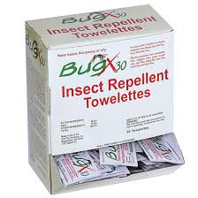 BugX 30 Insect Repellent Towelette-25pk