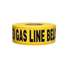 "Yellow Buried Gas Line Tape – 3"" x 1000'"