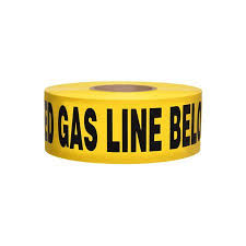 "Yellow Buried Gas Line Tape – 3"" x 1000'"