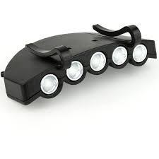 5 LED Adjustable Clip-On Ball Cap Light