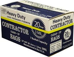 HD Contractor Clean-Up Bags - 20 pk