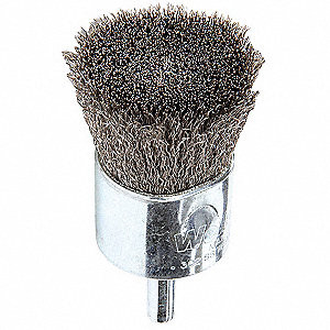 """1"""" x 1/4"""" Crimped Wire End Brush"""