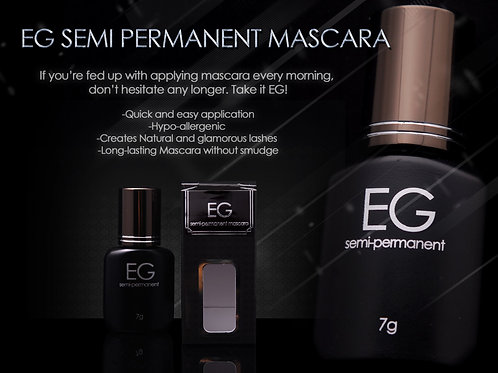 EG Semi Permanent Mascara & Remover SET+ FREE 7g Free Pro Brush set