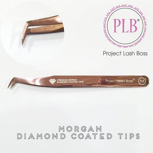 PLB Morgan Tweezer with Diamond Coated Tips