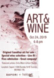 Art&Wine Flyer for Oct 24, 2019 - Sapori