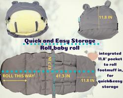Easy storage stroller footmuff
