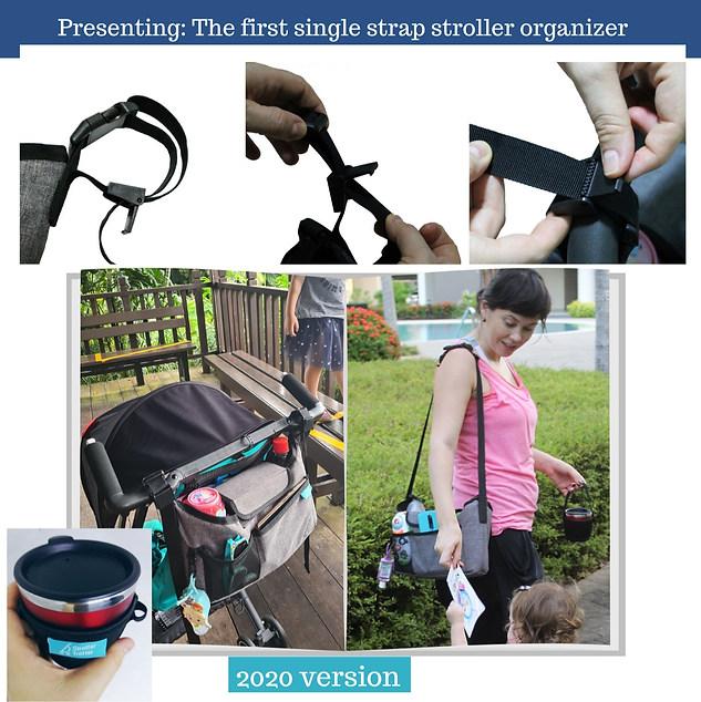 Single strap stroller organizer bag