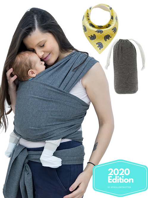 baby wrap carrier and bib