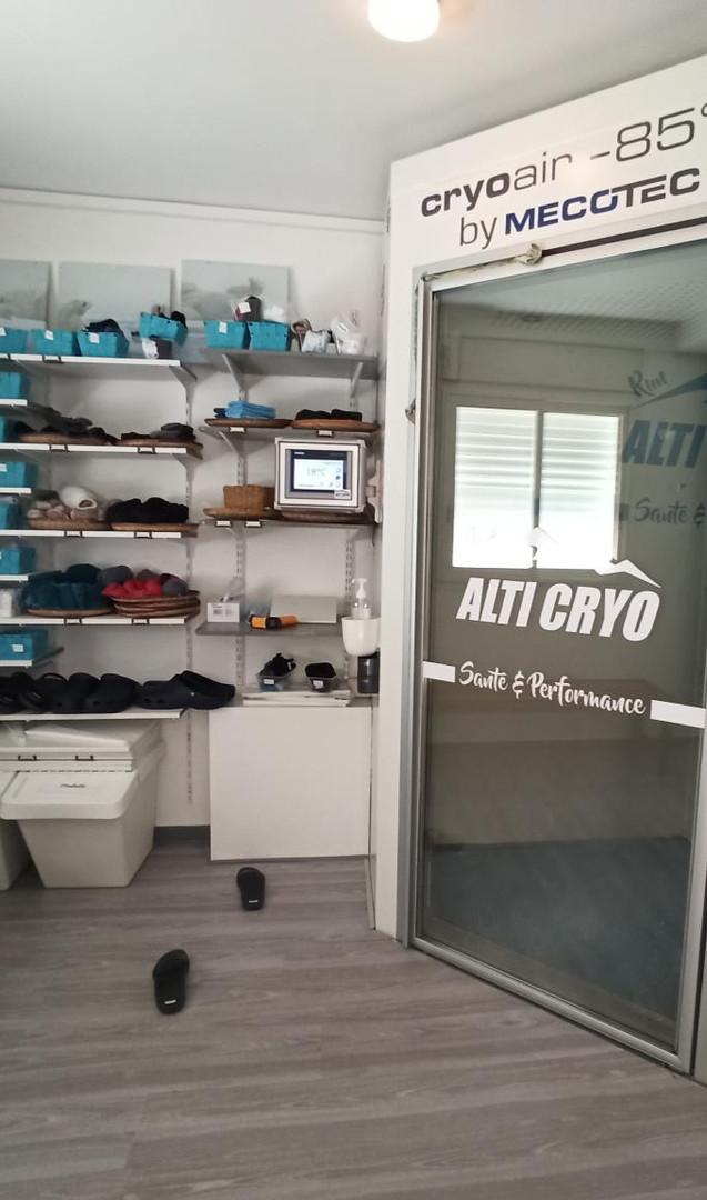 Cabine de cryothérapie