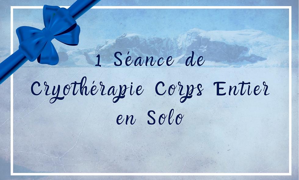 Carte Cadeau Cryothérapie - 1 séance en solo