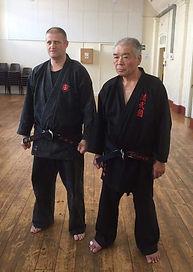Sensei Kiyoshi Yonemoto and myself UK visit 2017