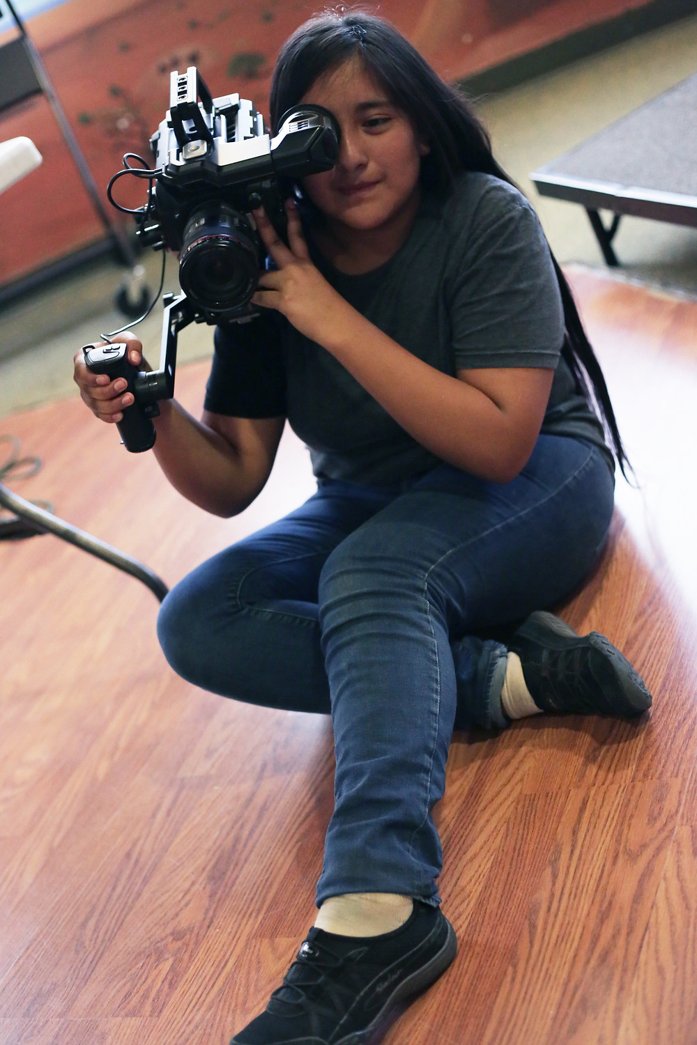 High school student Chelsea Selestewa is one of the talented crop of future filmmakers in the Kinlani Film Project this year.
