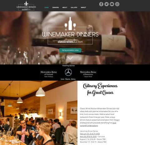 WINEMAKER DINNERS - WEBSITE