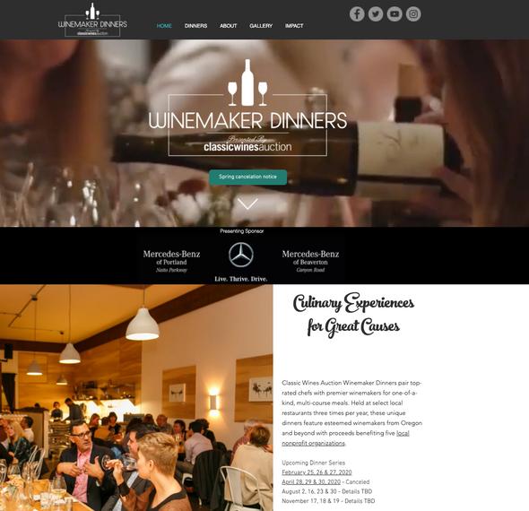Winemaker Dinners Website