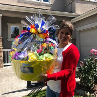 Mrs. John Gonsalves - winner of Hawaii basket #2