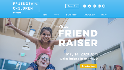 Friends of the Children Portland - Event Website