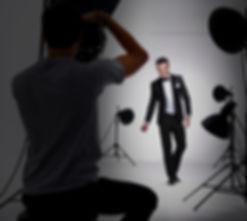 Male Model in Studio - Stylish portrait photography