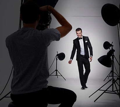 Male Model in Studio - Stylish portrait photography