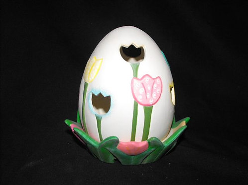 Egg light with Tulip Cutouts