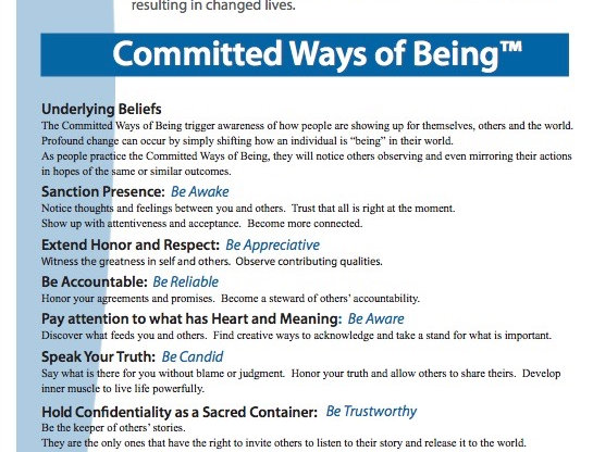 Committed Ways of Being Card