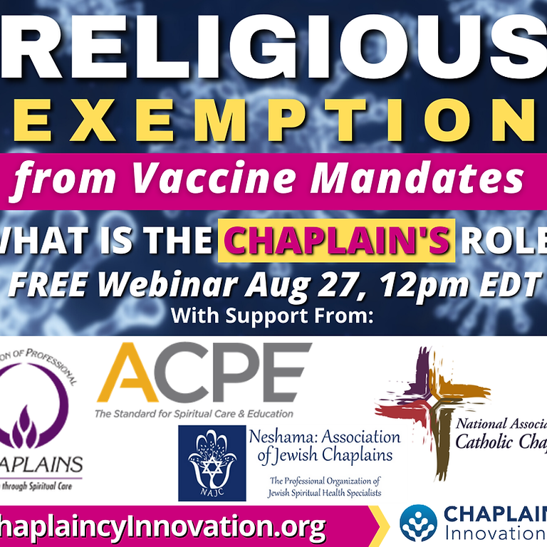 Webinar on Vaccine Religious Exemptions