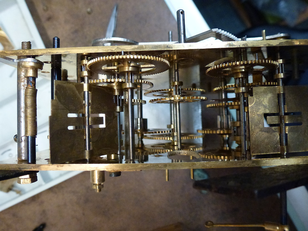 assembled clock mechanism
