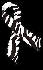 zebra print awareness ribbon
