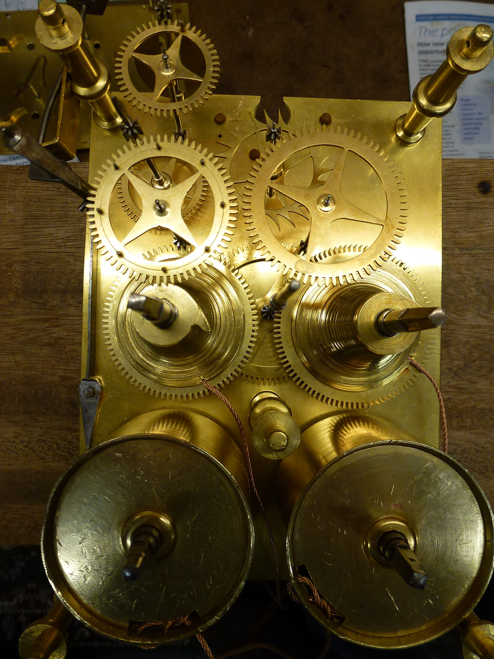 Fusee clock movement