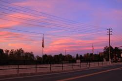 Sunset near Lake Simcoe