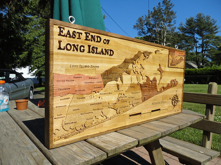 East End Map (Towns) Large 2'x3'