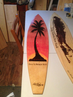 Tiki Hut Surfboard
