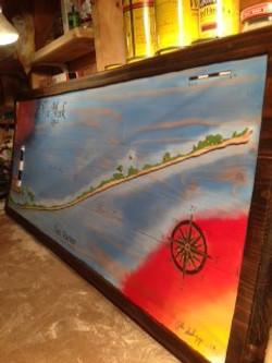 Fire Island Wall Decor Oil Paint