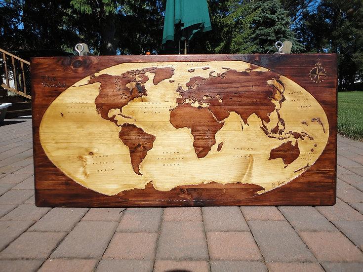 World Map XL 3'x5'