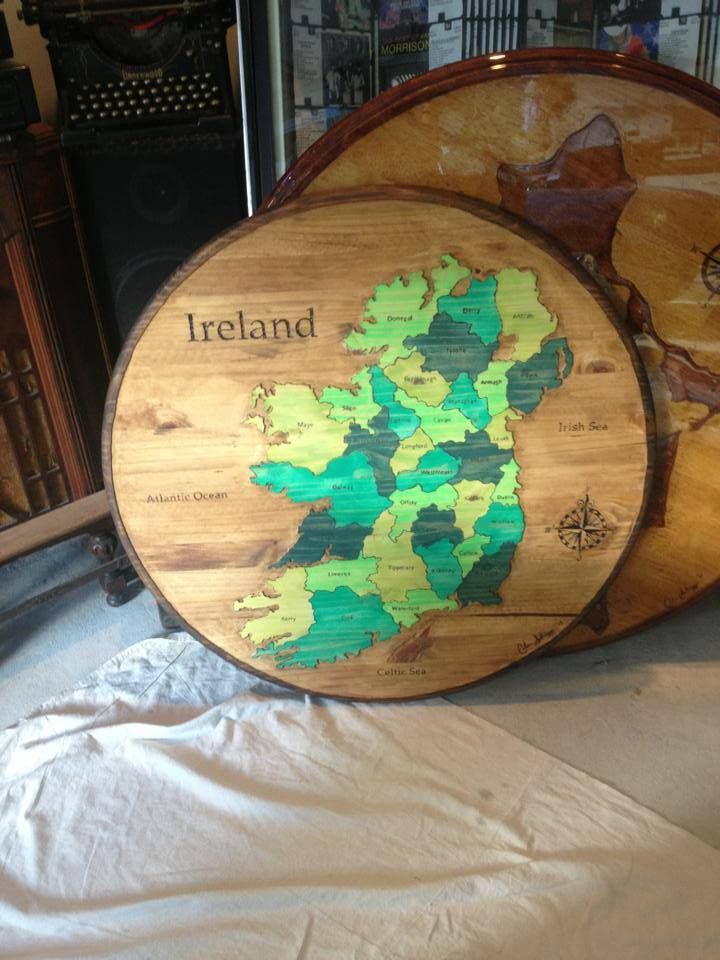 Ireland Counties Large Round
