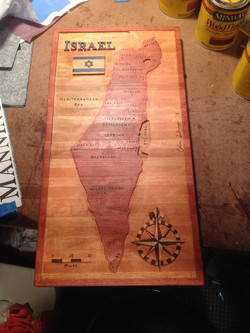 Israel Map Carving