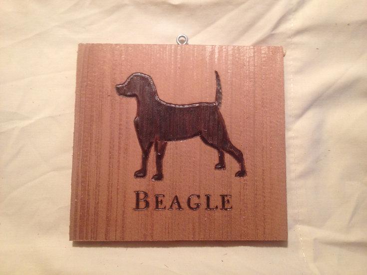 Custom Cedar Dog Tile