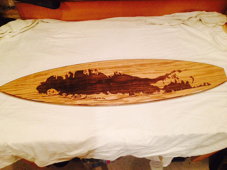 Long Island Surfboard (Grayscale)
