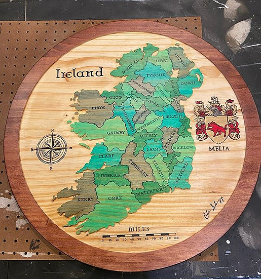 Medium Ireland (Shades of Green)
