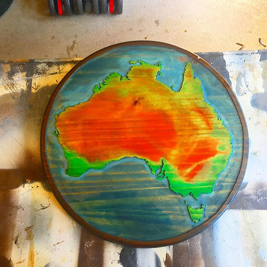 Australia Color Realism Small 1 1/2 ft Rd