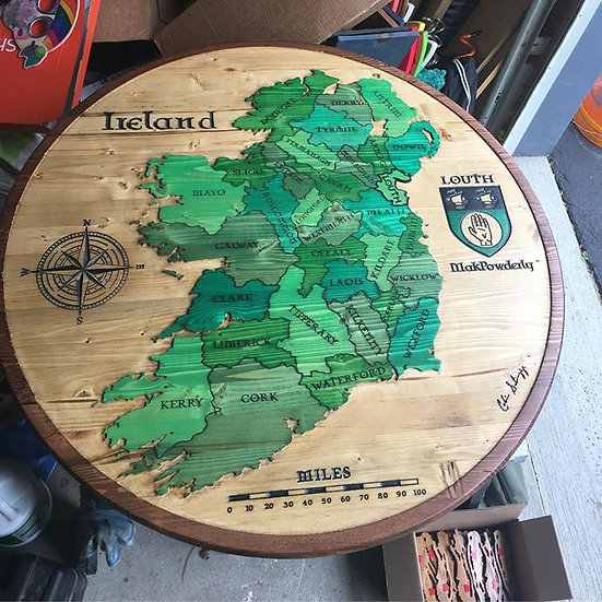 Ireland (Shades of Green) Large 3ft.