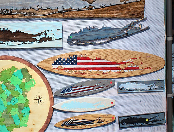 American Flag Long Island Surfboard