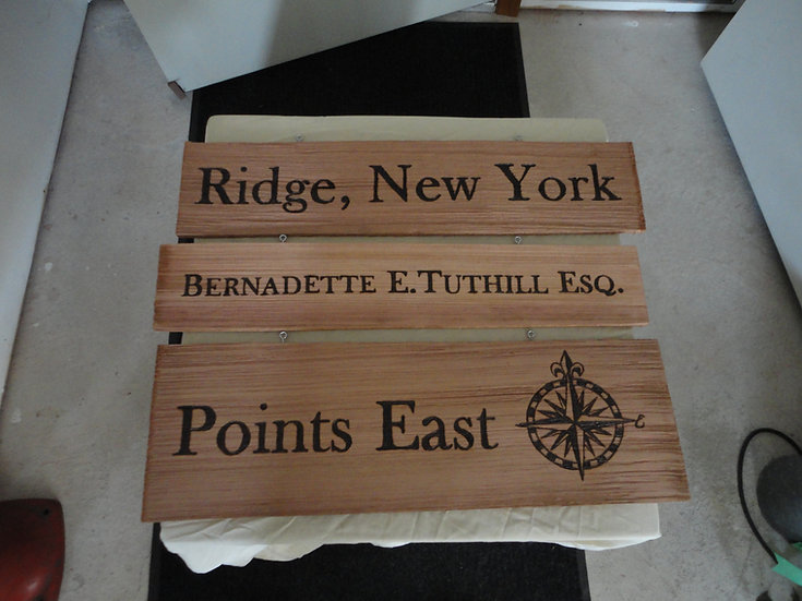 Custom Cedar Shingle Town Name