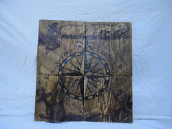 Compass Rose Plank Tiles