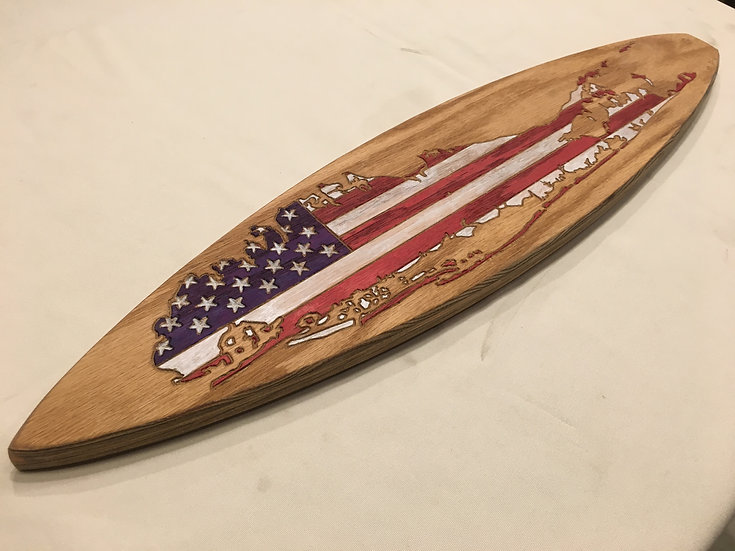 Mini Long Island American Flag Surfboard