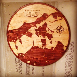 East End 3ft Round Map