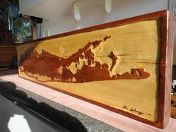 Custom Wood Carved Plank
