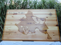Shelter Island Map Table Rectangle