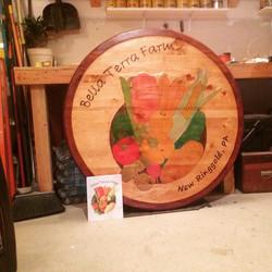 Bella Terra Farm Custom 4' sign #Christm